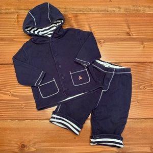 BABYGAP Reversible Hoodie & Pants Set 6-12m